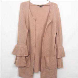 Signature Studio Pink Layered Bell Sleeve Sweater